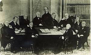 그림 설명(좌에서 우로) : 두루몽 헨리, 튜돌 존, 헨리 킹 처치(존 헨리), 달턴 헨리, 시트웰 프란시스, 도우 윌리암, 칼라일 토마스, 우드하우스 프란시스(뒤쪽), 카데일 존(앞쪽), 퍼시발 스펜스, 암스트롱 니콜라스, 메켄지 던칸(자리에 없음) - 12인의 후기 사도
